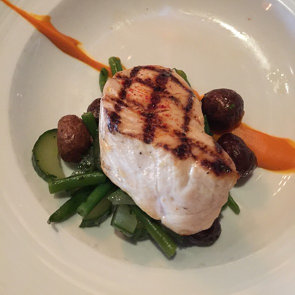 Swordfish With Purple Fingerlings And Carrot Puree - The Macintosh, Charleston, SC