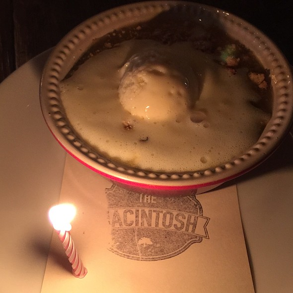 Peach Cobbler With Ice Cream - The Macintosh, Charleston, SC
