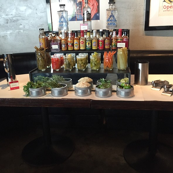 Bloody Mary Bar - The Eclectic Restaurant - Fine Food and Spirits, North Hollywood, CA