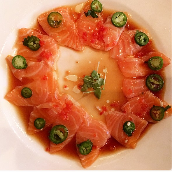 New-style salmon sashimi - Okura Robata Grill and Sushi Bar - La Quinta, La Quinta, CA