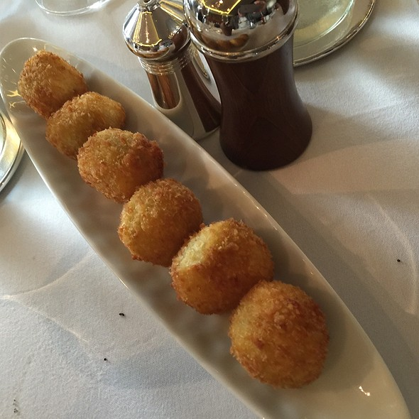 Goats Cheese Stuffed Olives - Corrigan's Mayfair, London