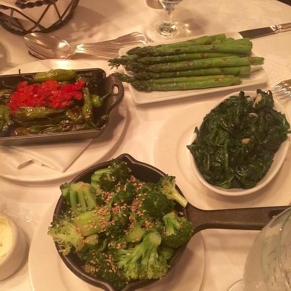 Broccoli Asparagus Spinach Shisito Peppers - Grill 23 & Bar, Boston, MA