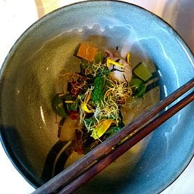 Chilled Green Coastal Curry - The Kitchen Restaurant, Sacramento, CA