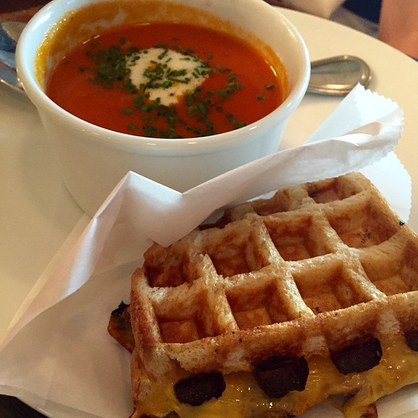 Waffle Grilled Cheese & Tomato Soup - B Too, Washington, DC