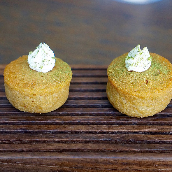 Caramelized onion financier, sour cream - Commis (Oakland), Oakland, CA