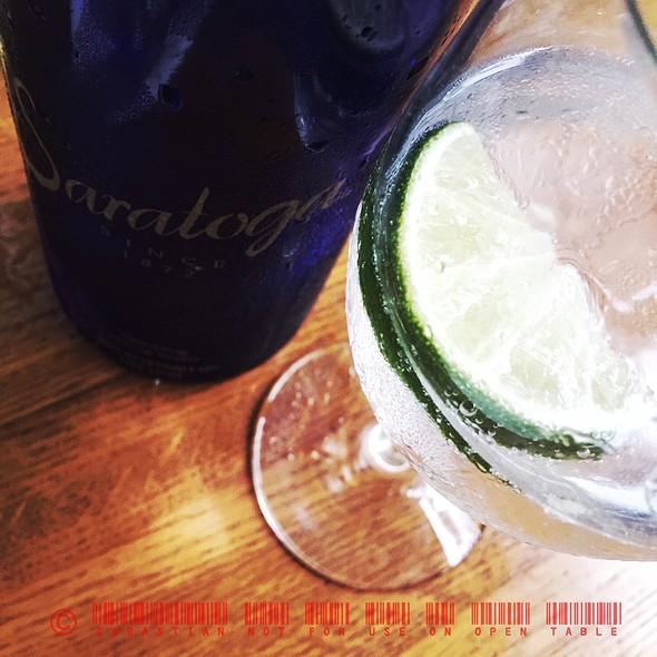 Saratoga Sparkling Water - Cru Cafe, Charleston, SC
