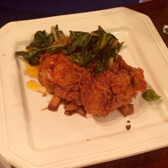 Fried Chicken Collards Sweet Potato Hash - Epiphany Farm-to-Fork, Tuscaloosa, AL