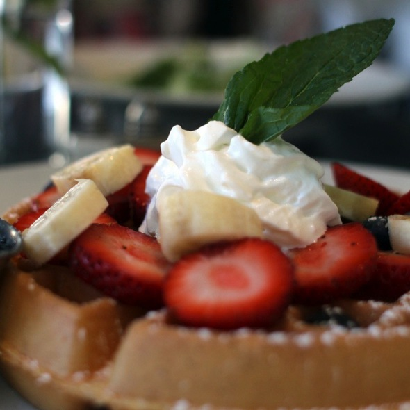 Waffle With Fresh Fruits - HK Hell's Kitchen, New York, NY