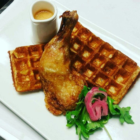 Confit Chicken And Waffles - Pistache French Bistro, West Palm Beach, FL
