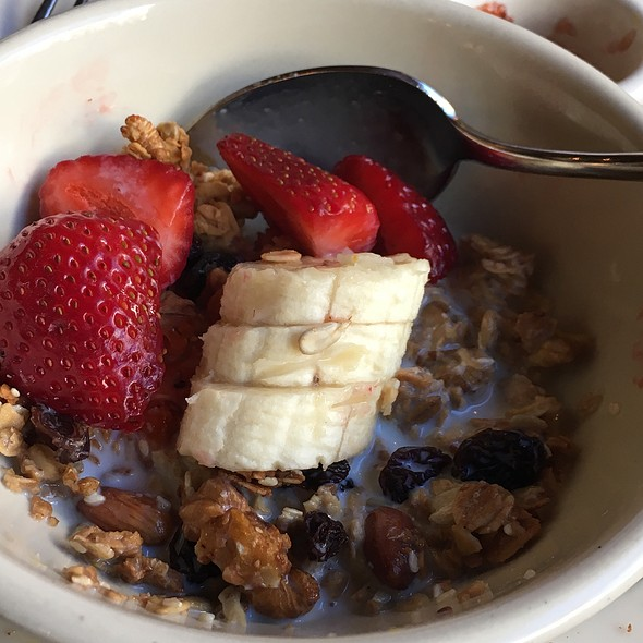 Granola With Fruit And Milk - Cafe de la Presse, San Francisco, CA