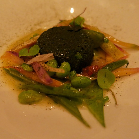Charred Onion Sformato With Pickled Ramps, Trout Roe, Nori, And Smoked Butter - Sepia, Chicago, IL