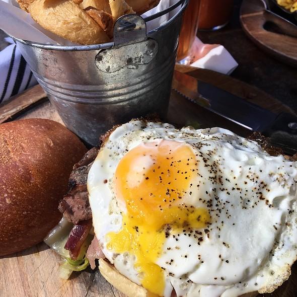 Chivito (Grilled Steak Sandwich W/Ham & Eggs On French Bread) - Oficina Latina, New York, NY