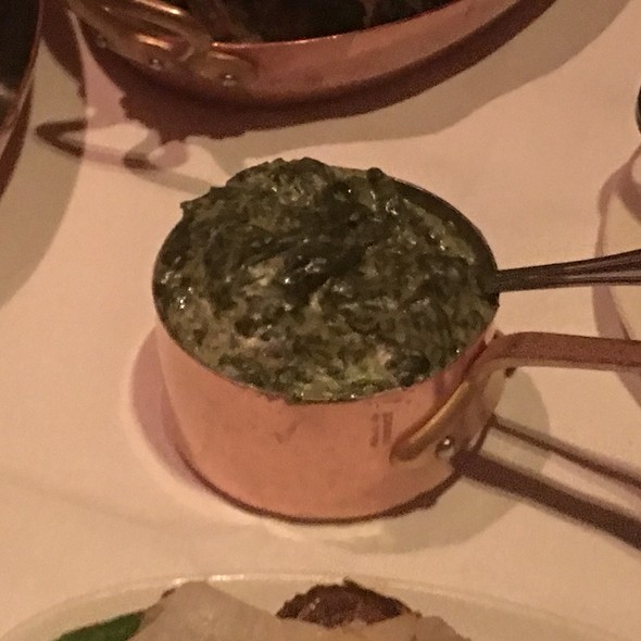 Black truffle creamed spinach - Strip House, New York, NY