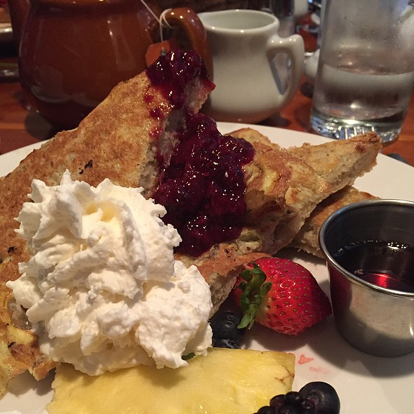 Apple Sourdough French Toast With Fruit Compote - Chez Piggy, Kingston, ON