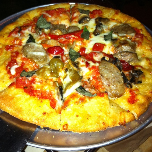 Mushroom And Sausage Pizza - Bella On The River, San Antonio, TX