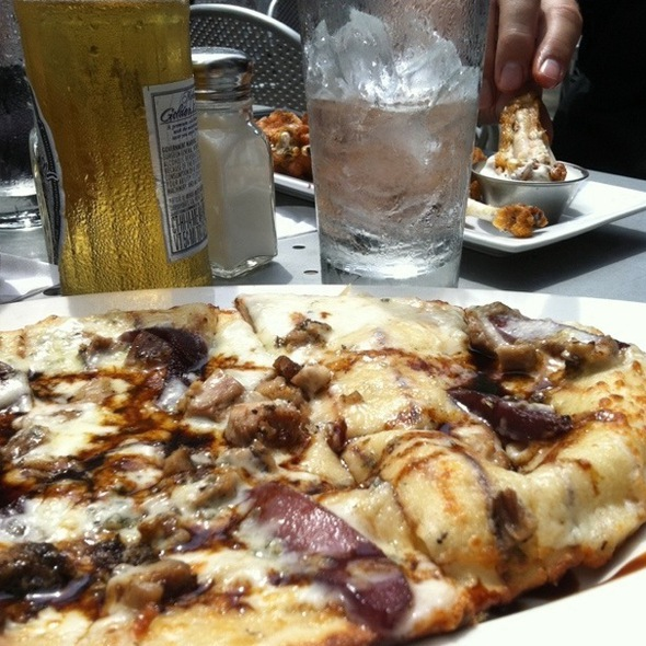 Fig, Duck Confit, Pear & Blue Cheese Pizza.  - Urban Eatery, Minneapolis, MN