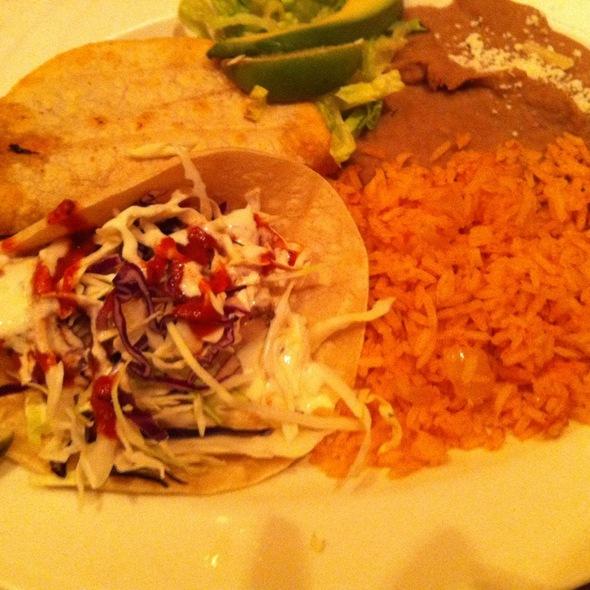 Shrimp Taco, Fish Taco, Beans & Rice - Luibueno's Mexican & Latin Cuisine, Haleiwa, HI