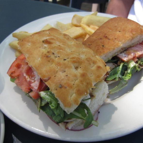 Chicken Focaccia Sandwich - BluWater Bistro - Leschi, Seattle, WA