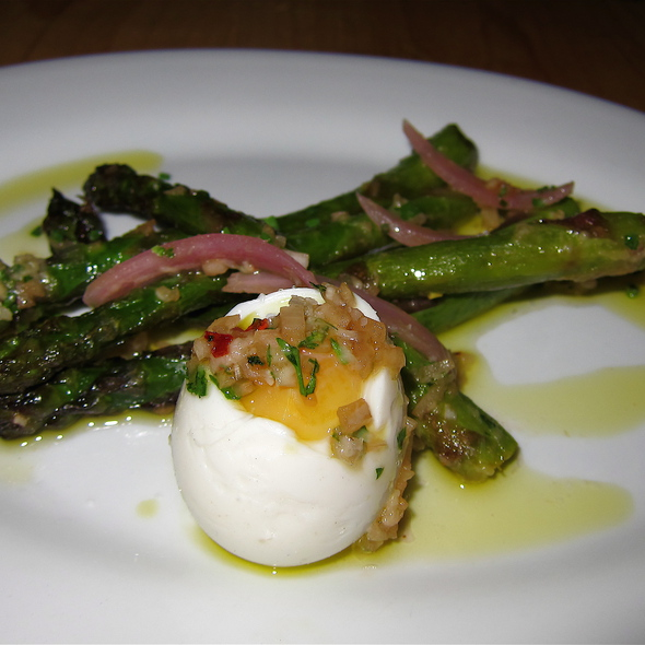 Wood Roasted Aspargus - cured farm egg - The Kitchen | Boulder, Boulder, CO