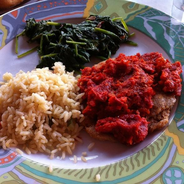 Vegan Moroccan Chicken Platter - Rafaella on Ninth, New York, NY