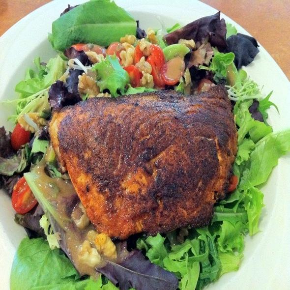 Blackened Salmon Salad - Hoffman's Downtown, Santa Cruz, CA