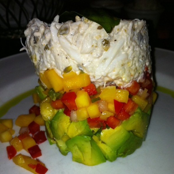 Crabmeat, Avocado, Mango Stack - Charley's Crab - Palm Beach, Palm Beach, FL
