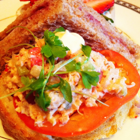 p.e.i lobster & mango salad sandwich - Library Bar - Fairmont Royal York, Toronto, ON