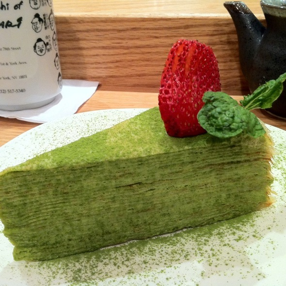 Green Tea Mille Crepe - Sushi of Gari - Upper East Side, New York, NY