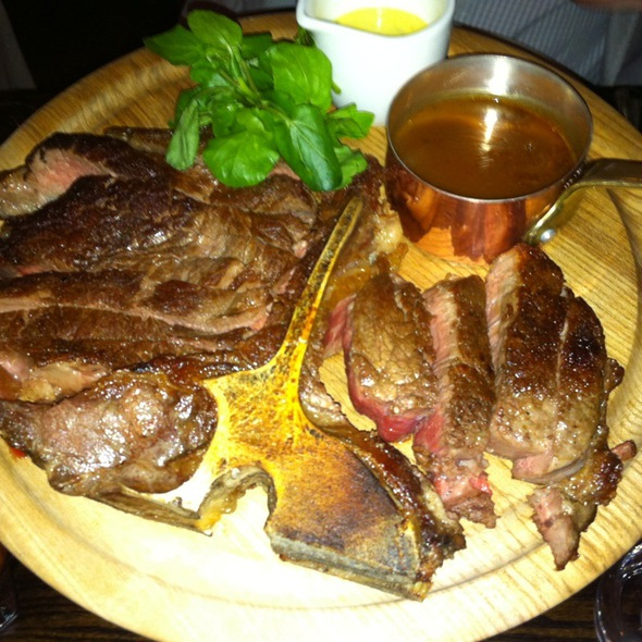 porterhouse steak - Chiswell Street Dining Rooms, London