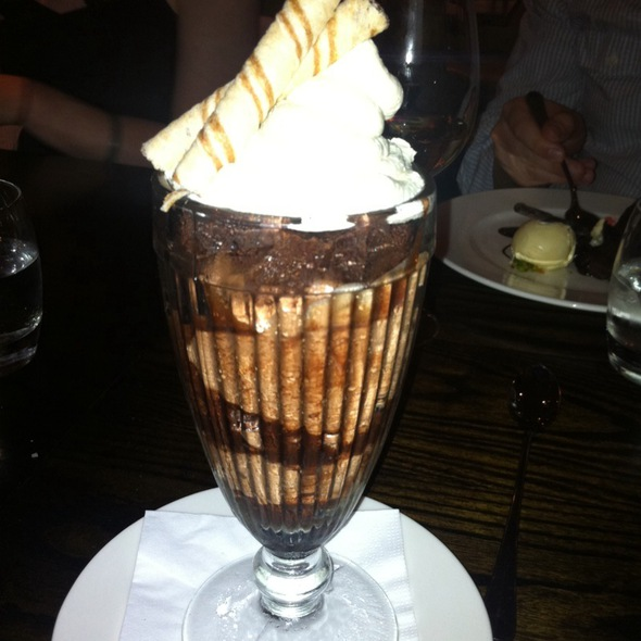 Chocolate Sundae - Chiswell Street Dining Rooms, London