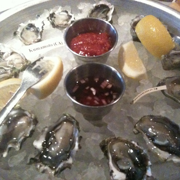 Kumamoto oysters - Elm Street Oyster House, Greenwich, CT