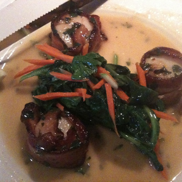 Scallop Wrapped In Bacon - Elm Street Oyster House, Greenwich, CT