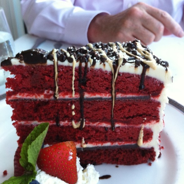 Mile High Red Velvet Cake - The Pointe Restaurant, Provincetown, MA
