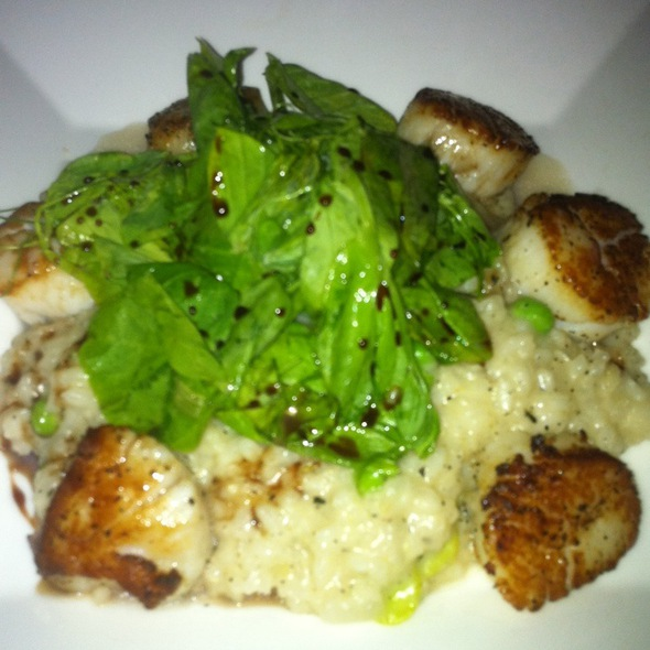 Seared Scallops With Risotto - Stella, Boston, MA