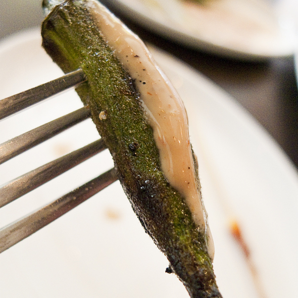 Grilled Okra - Haven, Houston, TX