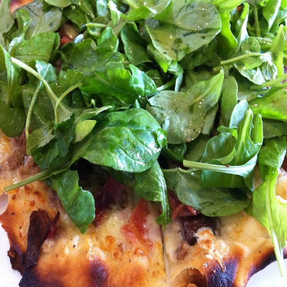 Sausage Pizza With Arugula - Pasta Moon, Half Moon Bay, CA