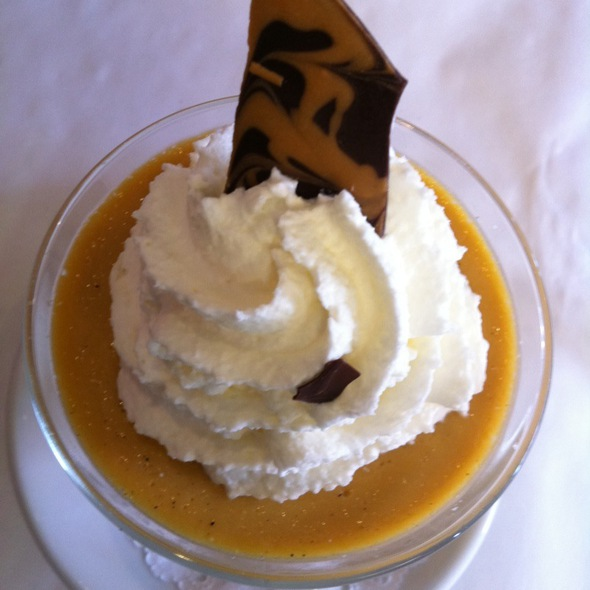 Butterscotch pudding - Pasta Moon, Half Moon Bay, CA