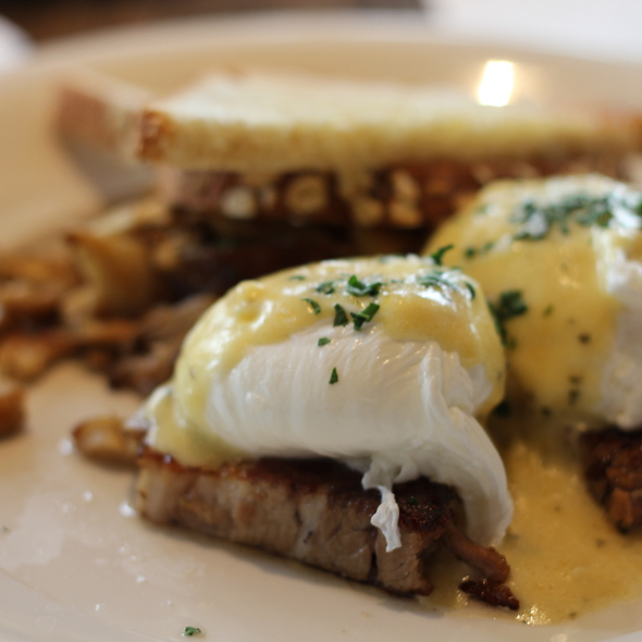 pork belly with poached eggs - Corner Table, Minneapolis, MN