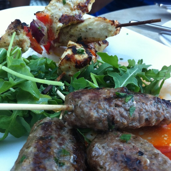 Beef Kefta And Chicken Skewers - Sens Restaurant, San Francisco, CA