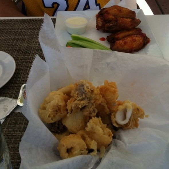 Calamari & Sweet Chili Wings - Bice at The Loews Portofino Bay Hotel, Orlando, FL