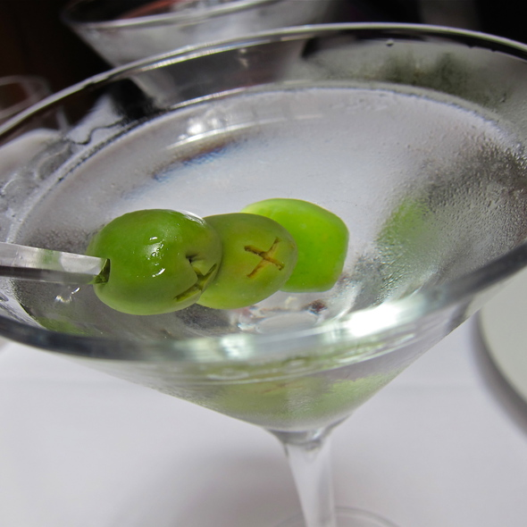 Ultra Dry Belvedere Martini w/3 Olives - Perbacco, San Francisco, CA
