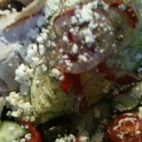 Greek Salad With Chicken - Fran's Filling Station, Charlotte, NC