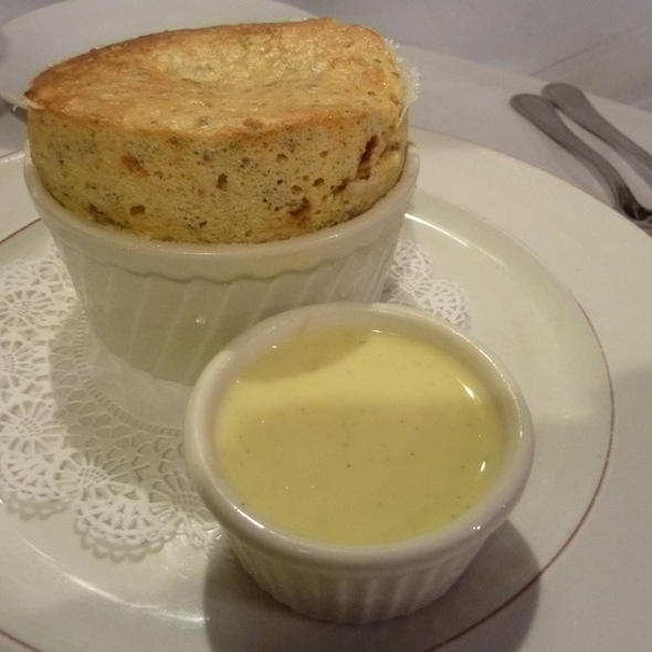 Pistachio souffle - Bistro Chat Noir, New York, NY
