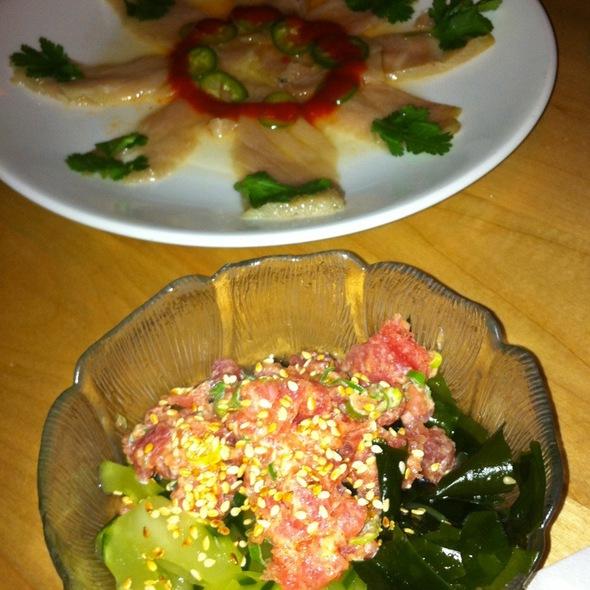 Razor O-Toro & Spicy Tuna Sunomono - Sushi Zushi - Stone Oak, San Antonio, TX
