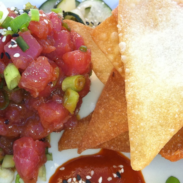 Ahi Poke W/ Pickled Cucumber & Avocado - Jimmy's Famous American Tavern, San Diego, CA