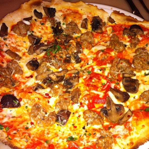 Italian Sausage And Mushroom Flatbread Pizza - Palomino - Indianapolis, Indianapolis, IN