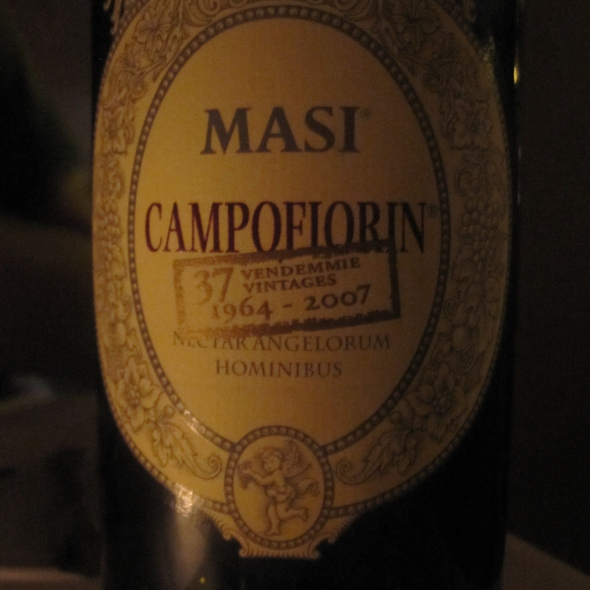 Masi Campofiorni wine - Lucca North End, Boston, MA