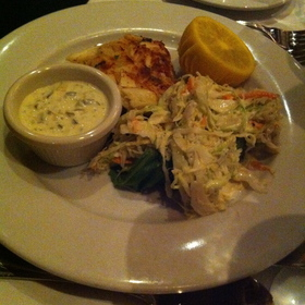 crab cake - Atlantic Fish, Boston, MA
