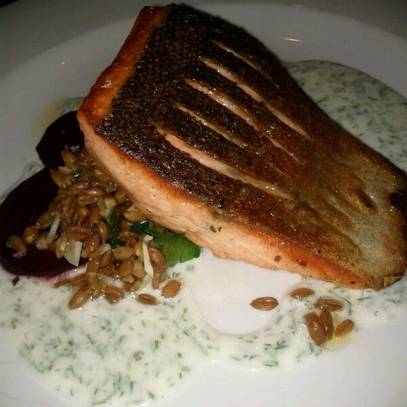 Pan Seared Steelhead Trout With Dill Sauce - Woodlot, Toronto, ON