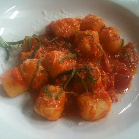 Gnocchi with Tomato Sauce, Basil, and Mozzarella - Spiga Ristorante, Needham, MA